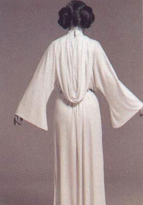 Vestido blanco princesa leia